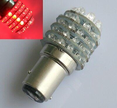 2x Car BAY15D 1157 P21/5W Red 45 LED Tail Brake Light Bulb Lamp 12V