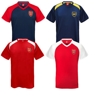 finest selection 73885 2f56d Details about Arsenal FC Official Football Gift Mens Poly Training Kit  T-Shirt