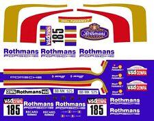 #185 Rothmans Porsche 1/64th HO Scale Slot Car Decal