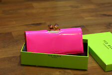Ted Baker 100% Authentic Mid Pink Patent Leather Matinee Purse  BNWT RRP£79
