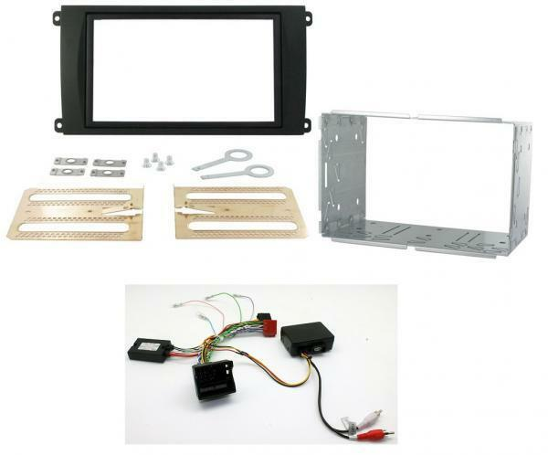 Porsche Cayenne 02-07 Double Din Fitting Kit Steering Amplifier Adaptor QUADLOCK