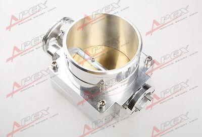 Set Aluminum Uniersal 60MM VQ35TPS Throttle Body Intake Manifold Billet Silver