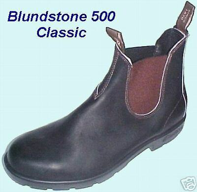 BLUNDSTONE 500 Classic Stout Brown Boots - New, Unworn