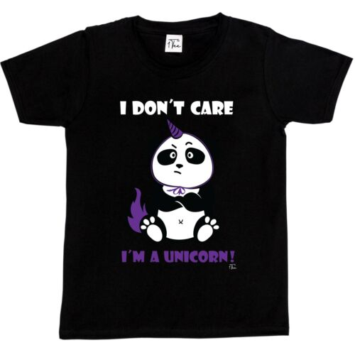 1Tee Kids Boys I Don/'t Care I/'m a Unicorn Cute Panda in Disguise T-Shirt