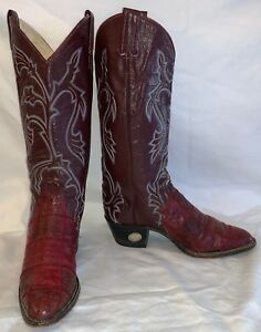 a5e72472ef4 Vintage Womens 6.5 LARRY MAHAN Cowgirl Cowboy Tall Top Ostrich ...