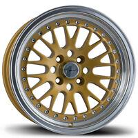 4 Pc Set Of Avid1 Wheels Rims Gold Av12 Av-12 15x8+25 Offset 4x100 15x8 on sale