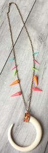 Boho-Gigi-Zara-Neon-Detail-Horn-Long-Necklace