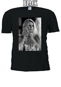 BRIGITTE-Anne-Marie-BARDOT-cantante-attrice-francese-Uomini-Donne-Unisex-T-shirt-303