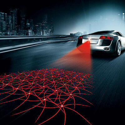 Cool Car Anti-Collision End Rear Tail Fog Pattern Driving Laser Caution Light