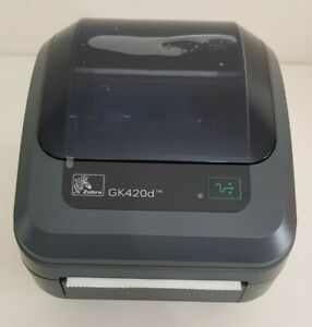 Brand New Zebra GK420d Thermal Label Printer, Charger & USB Cable 1