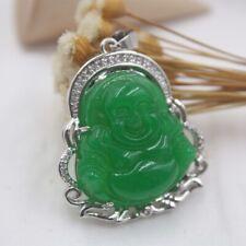 GP 18K Alloy /&  Light Green Jade Pendant Women/'s Heating Jade Rectangle 50*24mm