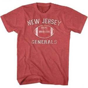 New-Jersey-Generals-LOGO-USFL-Men-039-s-Tee-Shirt-Red-Heather-Sizes-S-5XL