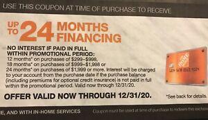 Home Depot Cupon Hasta 24 Meses De Financiamiento Hd Con Tarjeta De Credito 12 31 Ebay
