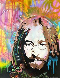 Dean-Russo-Art-Original-Artwork-on-Paper-John-Lennon-Beatles-Portrait-Music