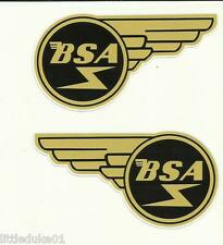 """BSA WING SET"" VINYL DECAL / STICKER NORTON TRIUMPH MOTORCYCLE WORKSHOP ARIEL !!"