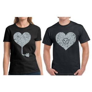 299d39c985 Image is loading Couple-Shirts-Heart-Matching-Couple-Shirts-Heart-Match-