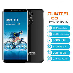 18-9-Handy-13MP-OUKITEL-C8-5-5-034-Android7-0-Quad-core-16GB-3G-Smartphone-Touch-ID