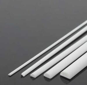 """US Stock 10x ABS Styrene Plastic Round Bar Rod Dia 6mm length 9.8/"""" 250mm White"""
