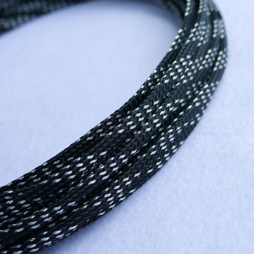 3MM Tight Braided PET Woven Expandable Sleeving Sleeve 8Meter 26Feet