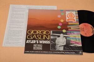 GIORGIO GASLINI LP AYLER'S WINGS 1°ST ORIG ITALY JAZZ NM ! UNPLAYED MAI SUONATO