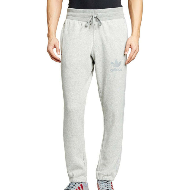 adidas originals Mens SPO Fleece Grey Sweat Pants Sport Gym Tracksuit Bottoms S