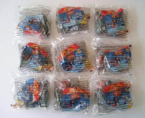 1998 Disney Mulan Chien Po Ling Yao McDonalds Happy Meal Toy #8 Lot of 9 NIP