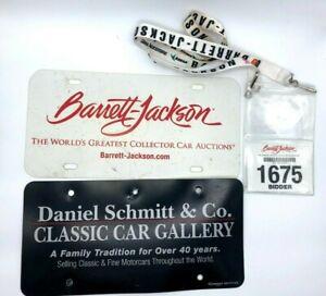 Barrett Jackson License Plate Lanyard and Bidder ID Daniel Schmitt Classic Car