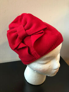befc502075f Image is loading NEW-Kate-Spade-Dorothy-Bow-Beanie-Hat-Red-
