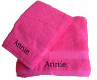 Personalised Embroidered Face Cloth Towel Flannel Great Gift Egyptian Cotton