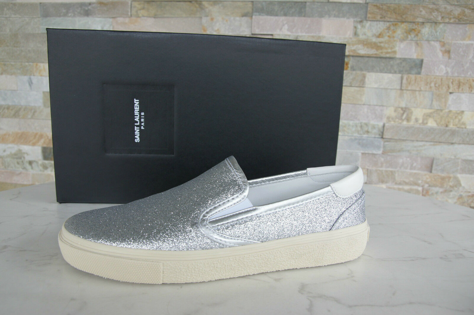 Saint LAURENT TAGLIA 40,5 6,5 Slipper Mocassini Slip UVP On Scarpe Shoes NUOVO UVP Slip 72a03a