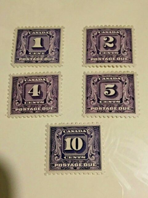 CANADA #J6-J10 MH,MNH - Postage Due Issues c.1930-1932 CV$260