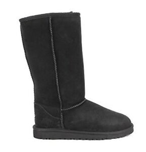 67630555bbe Details about Ugg Boots Black Tall Classic Australian Sheepskin Cowhide  Leather Mens Ladies