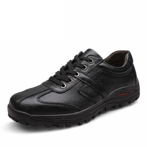 Homme Cuir Véritable Chaussures Souples mocassins chaussures de marche à lacets grande taille 6-12.5 US