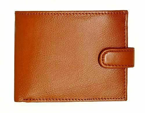 Man Wallet Genuine Leather RFID Safe Contactless Card Blocking ID Protection