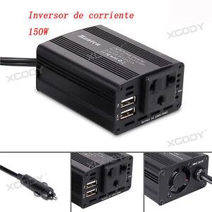 150W-12V-220V-Transformador-Corriente-Coche-Convertidor-Inversor-2-USB-Cargador