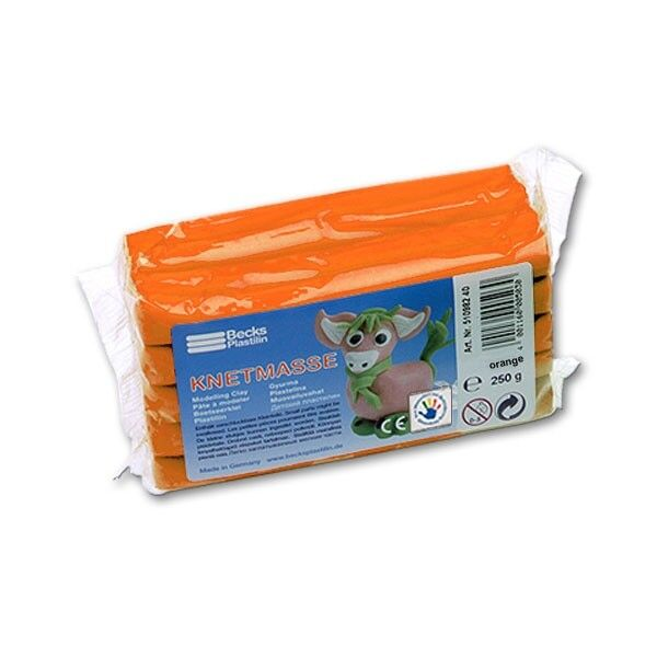 Modelliermasse für Kinder Becks Plastilin B100480 Knetmasse 500 g orange