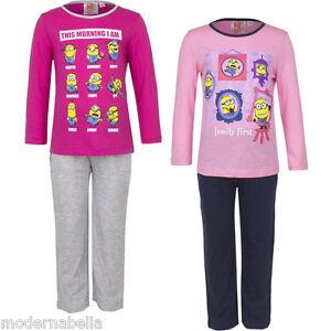 pigiama Bambina Minions Cattivissimo ME  cotone 100/%  da 3-8 anni Fucsia