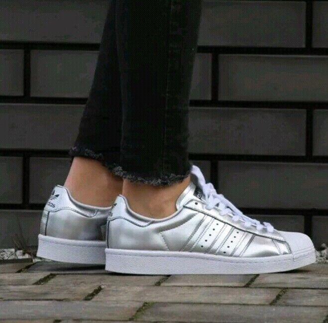 Adidas Superstar Women's BB2271 Silver White Blacksize US 9
