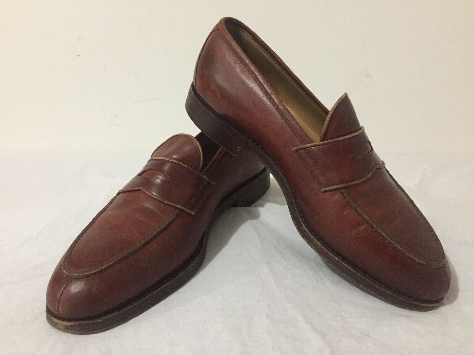 VARDA Loafers Slip On Shoes Brown Leather Men's Size 7