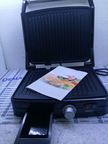 Bistecchiera/Panini Maker/Grill, Superficie di cottura 29x24cm, 2000W 3 in 1
