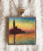 Pendentif Collier Claude Monet Venise Pendaglio Venezia Ciondolo Collar Bijou
