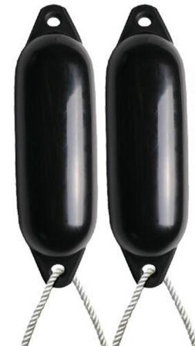 - SIZE 2 DEFLATED 2 X MAJONI BLACK BOAT FENDERS FREE ROPE