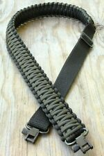 Adjustable Paracord Rifle Gun Sling Strap With Swivels Black & OD Green