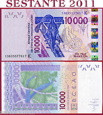 WEST AFRICAN STATES -  SENEGAL -  10000 10.000 FRANCS 2013   P 718K new  FDS/UNC