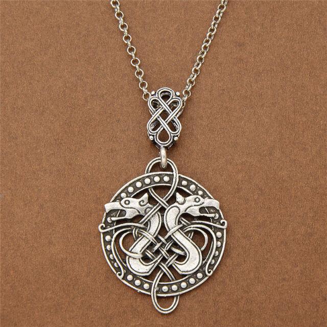 Viking celtic knots dragon odin pendant necklace norse nordic viking celtic knots dragon odin pendant necklace norse nordic jewelry charm mozeypictures Gallery