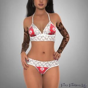 Boston-Red-Sox-sexy-intimates-lace-top-and-g-string-lingerie