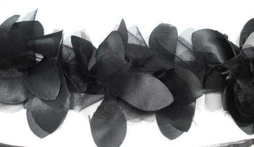 Chifón pétalos de flores de encaje de corte Cinta de Tela Costura Artesanía Floral Boda