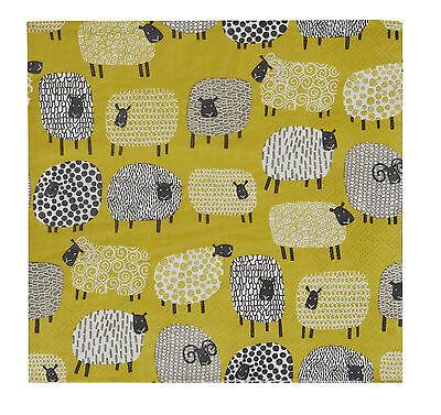 20 Servietten  Serviettentechnik Dotty Sheep 33x33, Fa. Ulster Weavers