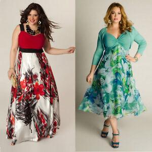 12cb953e9ad Image is loading Women-Summer-Boho-Floral-Long-Maxi-Dress-Evening-