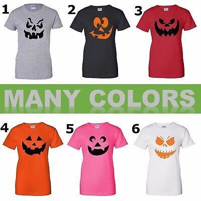 Funny Pumpkin Face T-Shirt Mix Halloween Costume Jack O/' Lantern Tee Shirt